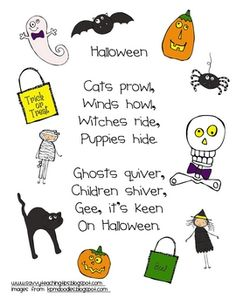 A SIMPLE HALLOWEEN POEM....use with punctuation poetry activity
