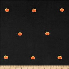 Embroidered 21 Wale Corduroy Pumpkin Black/Orange from @fabricdotcom  This lightweight 21 corduroy fabric featured adorable embroidered designs throughout. Soft and unique, this corduroy fabric is perfect for children's apparel, skirts, dresses and shirts.