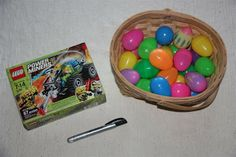 Love this idea for filling Easter eggs. Am so going to do this when my girls get bigger.  Buy a Lego kit and fill the eggs with the pieces.  Then, they will have fun hunting as well as figuring out what the pieces make!