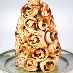 Cinnamon Roll Tower Carla Hall