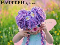 Free Crochet Yarn Hair Tutorial PDF Pattern