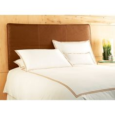 Avalon Inflatable Headboard in Distressed Saddle Faux Leather Size: Full/Queen    The air cushion design provides comfortable support when reading, watching T.V. or lounging in bed    $91.99