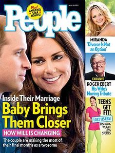 ON NEWSSTANDS 4/12/13: Prince William prepares for fatherhood. Plus: Roger Ebert's wife pays tribute to the late film critic, Miranda Lambert talks about her marriage and more.