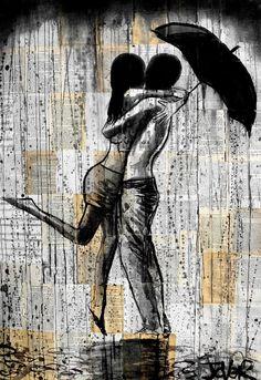 "Saatchi Online Artist: Loui Jover; Ink 2014 Drawing ""summer rain"""