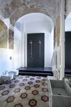 Hexagon floor tiles ~ Capri Suite, Anacapri, 2011