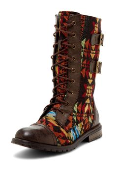 Groove Monroe Boots in Aztec Print - only $35.00 !! aztec print, fashion, cloth, groov monro, monro boot, feet, aztec boot, shoe, boots