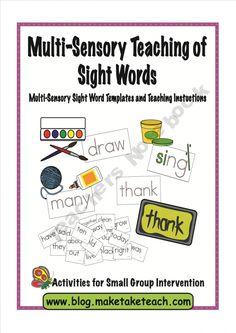 Multi-Sensory Teaching of Sight Words product from Make-Take-Teach on TeachersNotebook.com
