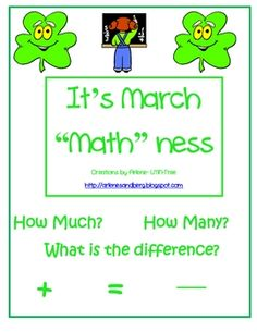 "It's March ""Math""ness FREEBIE"