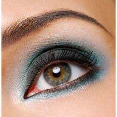 How to Get Smokey Eye Makeup Done Right ❤ liked on Polyvore