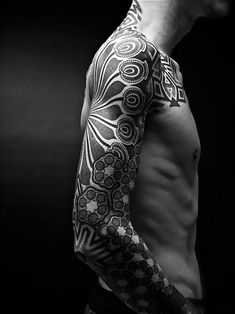 patterned sleeve #tattoo #ink