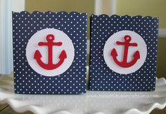 Nautical Baby Shower, Nautical Anchor Candy Popcorn Nut Cup Favor Boxes on Etsy, $21.00
