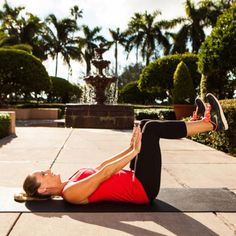 90-Degree Static Press - Burn Lower-Belly Fat: The Best Exercises for Lower Abs - Shape Magazine