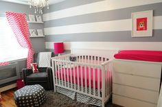 Grey and pink room