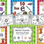 Medial Vowel Sounds Pack! This pack is full of ways to help your students practice recognizing medial vowel sounds in words! Included are:  Pocket Chart header cards  45 pic...