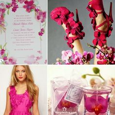 Fuchsia Orchid Wedding Inspiration Ideal for Spring #spring #wedding #orchid #fuchsia #inspiration #board