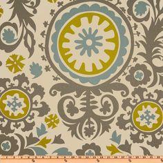 Kitchen Valance Fabric? Premier Prints Suzani Summerland/Natural