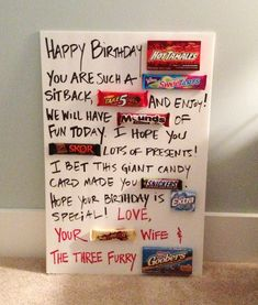 Giant Candy Birthday Card