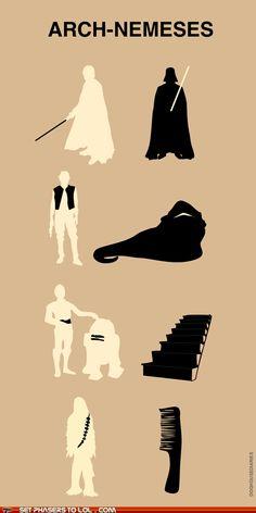 Star Wars arch-nemeses.