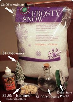 Diy waterless snowglobe