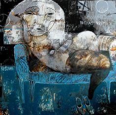 "Saatchi Online Artist Rusudan Khizanishvili ; Painting, ""Buenas Noches"" #art"