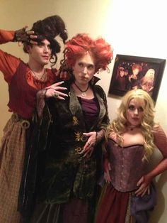 "Because you know that dressing as the Sanderson sisters is the perfect costume for anyone, whether you're three girls, or, like below, three guys: | 21 Reasons Why ""Hocus Pocus"" Is The Best And Most Important Part Of Halloween"