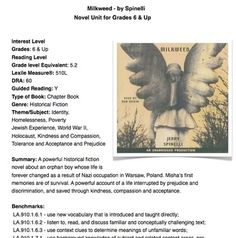 Milkweed - by Spinelli - Lesson Plan - Grades 6 & Up