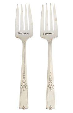 'Bride and Groom' Vintage Wedding Forks