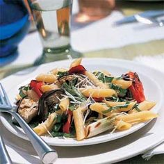 Grilled Italian Vegetables with Pasta | MyRecipes.com #MyPlate #grain #vegetable