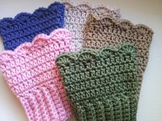 Crochet Boot Cuffs by Poochie Baby   Crocheting Pattern