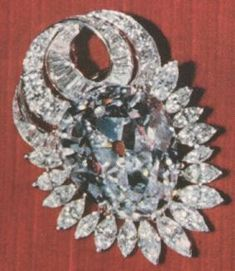 The Nepal Diamond. Pear-shaped diamond, weighing 79.41 metric carats, mounted as a pendant with a diamond chain