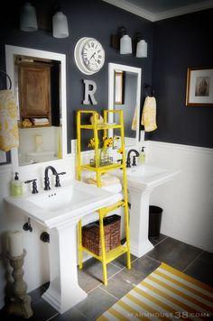 Cute bathroom. Hall bathroom colors