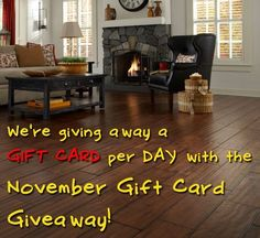At Lumber Liquidators, we're giving away one gift card DAILY 'til November 28! Snag a $50, $100, $200 or $500 gift card in time for Black Friday to put toward a new floor, accessories, or tools!  www.facebook.com/lumberliquidators
