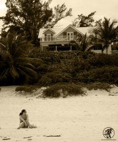 Sip Sip, Harbor Island - Bahamas. Caribbean Beach Bars Cloaked in Black and White.  #Bahamas #Caribbean #photography