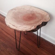 Pietro End Table - Live Edge End Table - Hairpin Legs