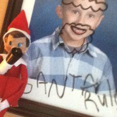 Elf on the Shelf mischief.