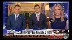 Mitt Romney Paul Ryan Criticize Barack Obama in First Joint Interview Si...