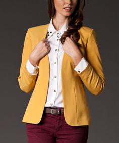 Yellow Open Blazer