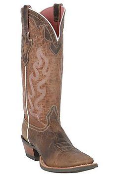 Ariat Ladies  Weathered Brown Crossfire Caliente Western  Boot