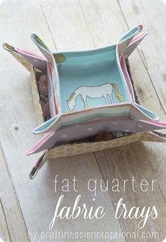 Fat quarter trays sewing tutorial