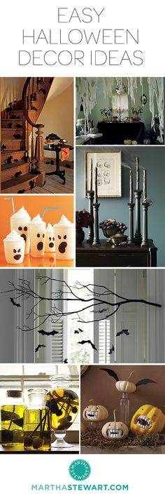 Easy Halloween decorations and ideas.