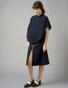 cotton gauze circle shirt, #Shopbird15, #SS14