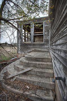 Abandoned school in Kanona, Kansas.