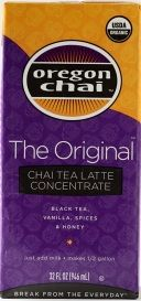 THE ORIGINAL CHAI CONCENTRATE: Our best-selling recipe!  A perfect combination of black tea with honey, spices and vanilla.  Simply combine concentrate half & half with milk for a traditional chai latte. #oregon #chai #kerry #foodservice