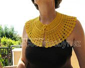 Instant Download Pattern, Tutorial  Crochet Collar Pattern, Peter Pan Collar /Capelet, Crochet Lace Collar, Crochet Collar