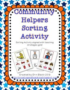 Community Helpers Sorting activity FREE