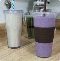 pineapple oatmeal smoothie and berry blast smoothie recipes