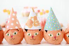 orange cat party