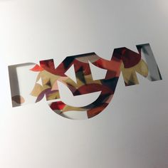 Lettering experiment by Darren Booth.