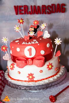 Minnie Mouse Birthday Party cake!  See more party ideas at CatchMyParty.com!