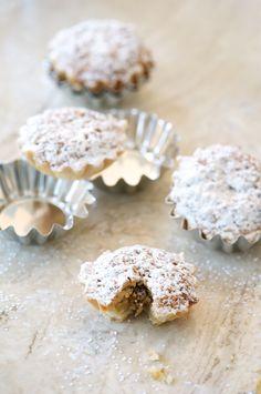 Hazelnut tarts with chocolate & orange